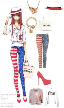 Red white and blue by Nina-D-Lux