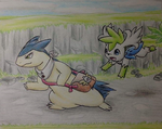 Commission - Exploring a Dungeon by LolloTheVaporeon