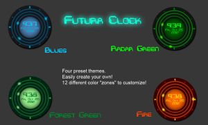 Futura Clock by CybOrSpasm