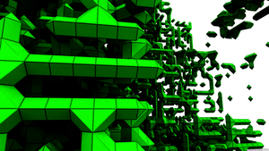 Fragmented -Voxel Wallpaper- by B-ad--Apple