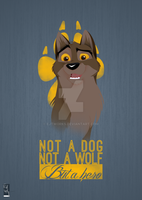 Not a Dog, Not a Wolf by ejtworks