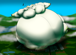 Bigger gigantic Terriermon Enjoying Himself by RickyDemont