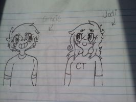 Gracie and Jodi doodle by PewDiePie-Lover