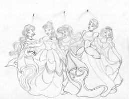 The Princesses of Happily ever after by Angels-Pixie-D