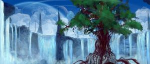 Waterfalltree by Kamikaye