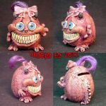 Tina The Monster Bank ooak by Undead-Art