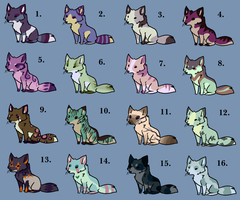 16 mini fox adopts.CLOSED. by HappyFoxChelsy