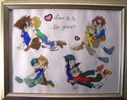 Digimon painting for Mashiro by Kumagorochan