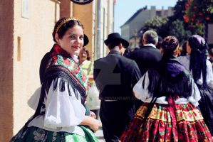 Performer in Traditional Hungarian Dress by ribbonworm