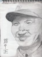Chiang Kai Shek drawing by y3nd0