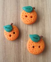 Orange Buttons by Sompy-Stuff