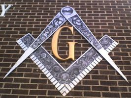 Masonic Square and Compasses by Only1Hash