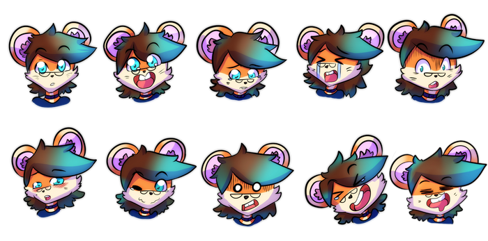 (COMM) Shreddy emotes! by indorak