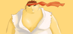 Ryu gone Fat by gwinchy