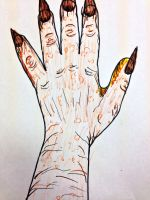 Doodle(Dino Hand) by Starsinger1