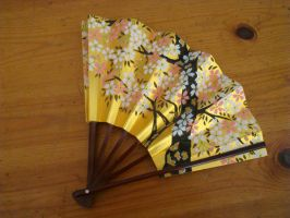 Stock: Cherry Blossom Fan2 by FantasyFailure-Stock