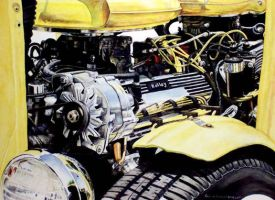 Hot Rod Engine by Meador