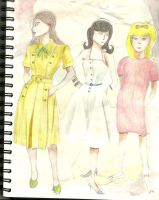 Dress Sketches by Animatelle