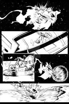 the Black Hole Hunter's Club issue #1 pg 1 by prettygoodart