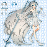 Mahou Shoujo BLUE Adoptable (CLOSED) by Miivei