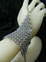 maille handflower by BacktoEarthCreations