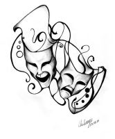 Masks - Tattoo-Design by MusiKasette
