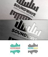 Sound Wave Logo Template by JamesRuthless