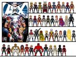 Micro Heroes: Avengers vs X-Men Round 1 by GEEKINELL