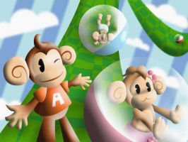 Super Monkey Ball by CrystalFairy