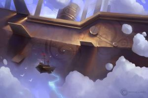 Legendary skyship encounter by pankratiev