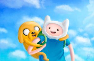 Finn and Jake by Rodrigues404