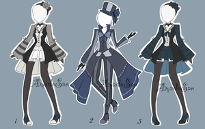 Victorian Outfit Batch Adoptable CLOSED by AS-Adoptables