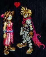 Final Fantasy VII Cross Stitch by pixel8bit