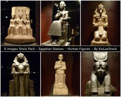 Egyptian Statues - Human Figures by XiuLanStock