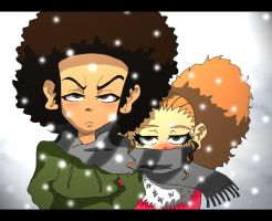 The Boondocks - I'm using your scarf anyway... by vaness96