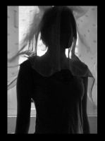 Curtain covers head. by JulsBlack
