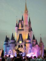 Cinderella Castle at Sundown by sth1977