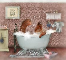 Miss Suzy Takes a Bath by Foxfires