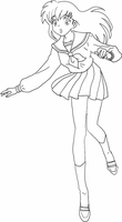 Kagome lineart by Meow-chi