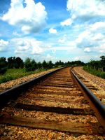 railroad tracks by renachristsuperstar