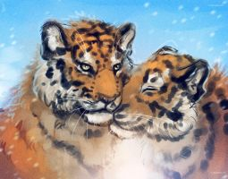 Tigers Scetch by Ti-R