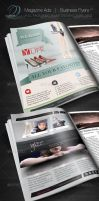 Magazine Ad - Business Flyer V1 by CursiveQ-Designs