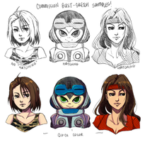 Bust Samples. by MzzAzn