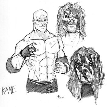 Wwe's Kane by TheMonkeyYOUWant