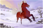 CW | SS | Dashing Through the Snow by Kaybutts
