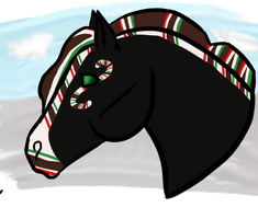 Candy cane in the snow by BettaFreak123