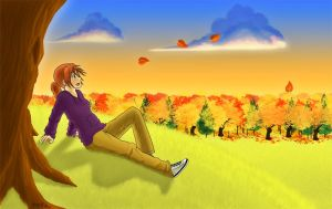 Alluring Autumn by DracoSkyne