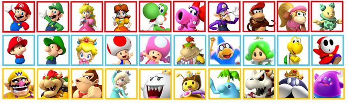 Dream Mario Kart Roster by StainedUsagi