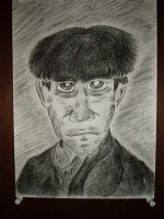 Charcoal Moe Howard1 by vaudeville-comedy