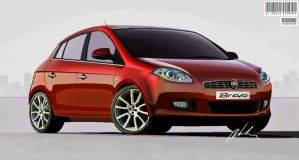 Fiat Bravo with MS Paint by bencizdim